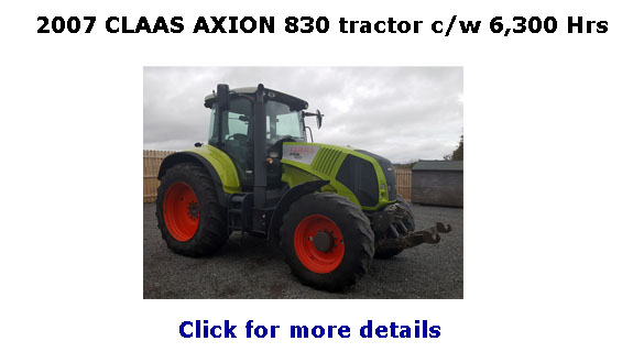 2007 CLAAS AXION 830 tractor